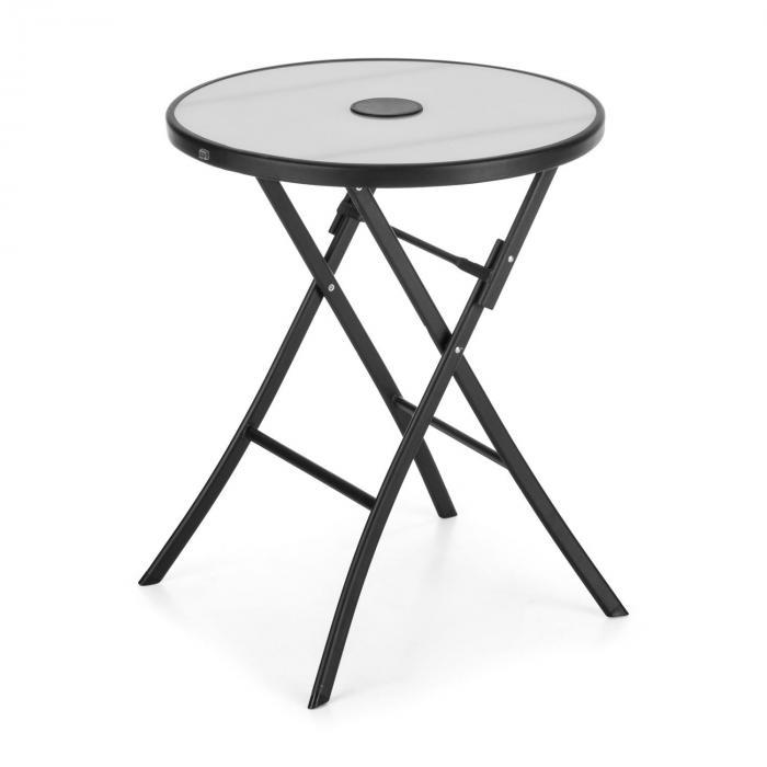 Before Sunrise 3-osainen tekstiili-Bistro-setti pöytä 2 tuolia musta