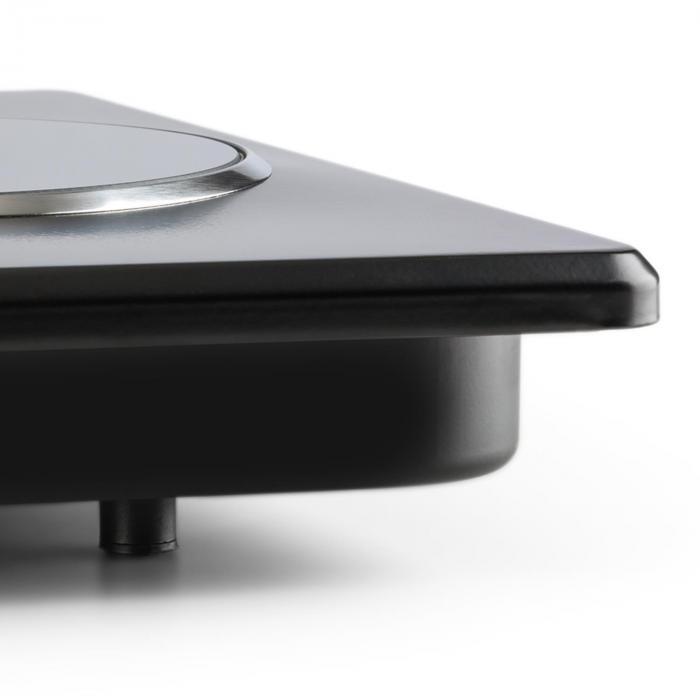 Potzblitz trippel-kokplatta 3300W steglös rostfritt stål svart