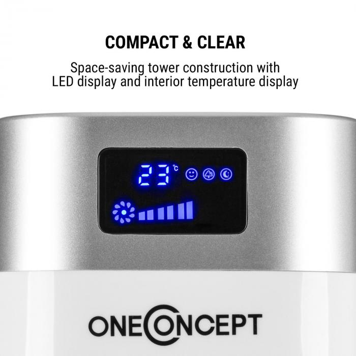 Hightower 2G Ventilatore A Colonna 50W Bianco