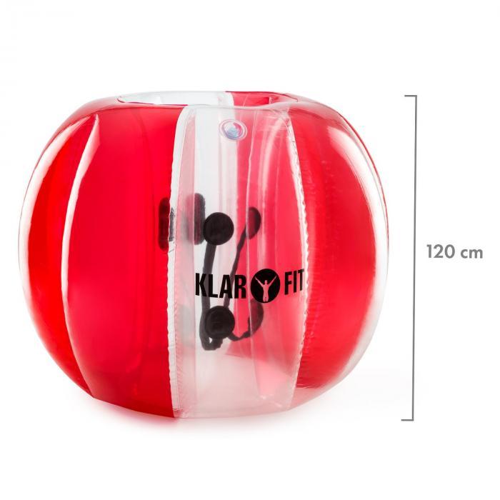 Bubble Ball Football gonflable pour adultes 120x150cm PVC EN71P - rouge