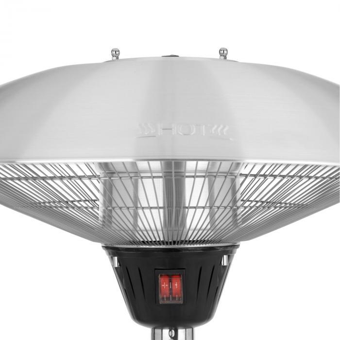 Heat Guard Radiatore ad Infrarossi Fungo da Terrazzo 2100W IP44 Argento