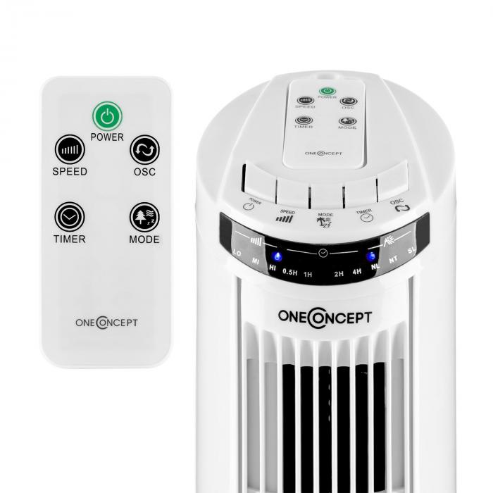 blitzeis ventilateur colonne sur pied 50 w oscillation 45 blanc electronic star fr. Black Bedroom Furniture Sets. Home Design Ideas