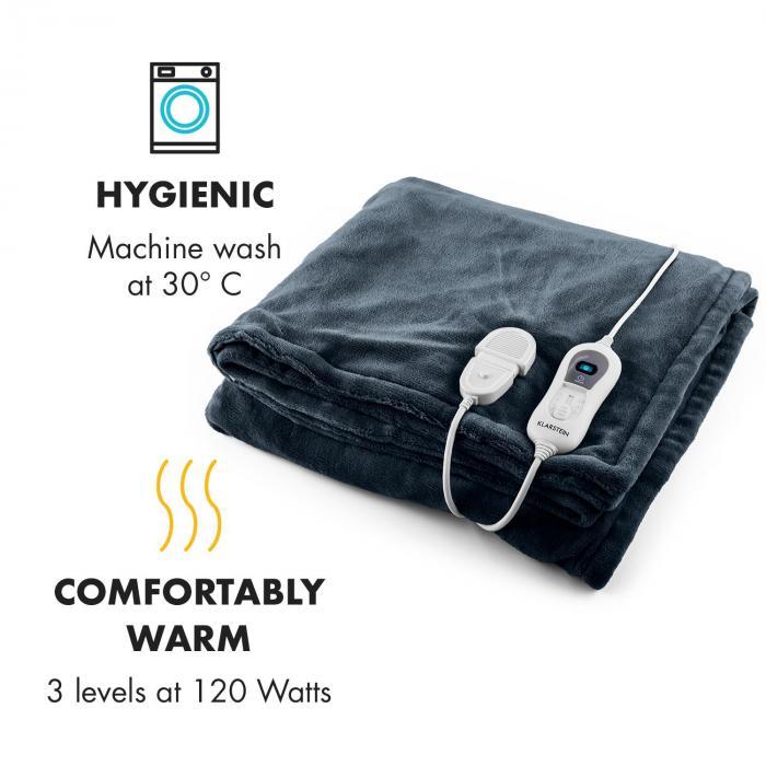 Dr. Watson XL lämpöpeite 120W pestävä 180x130cm pehmeä harmaa