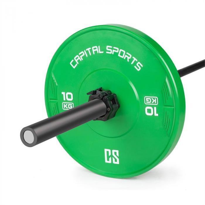 Capital Sports Nipton Discos de pesas 10 kg Verde Caucho