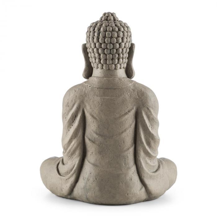 Siddhartha Statua 60 cm Elemento In Fibra Di Vetro Effetto Pietra Naturale