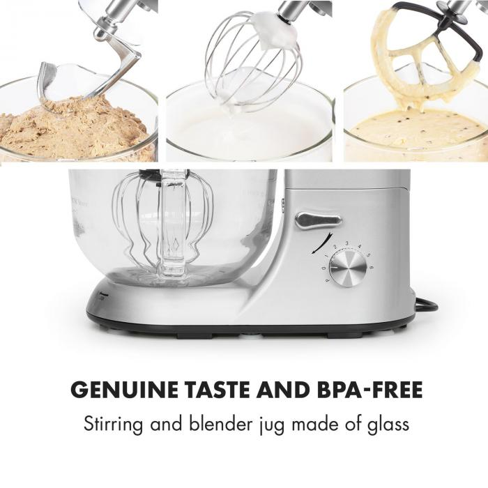Lucia Argentea 2G Stand Mixer Blender Meat Grinder 1200W BPA-free