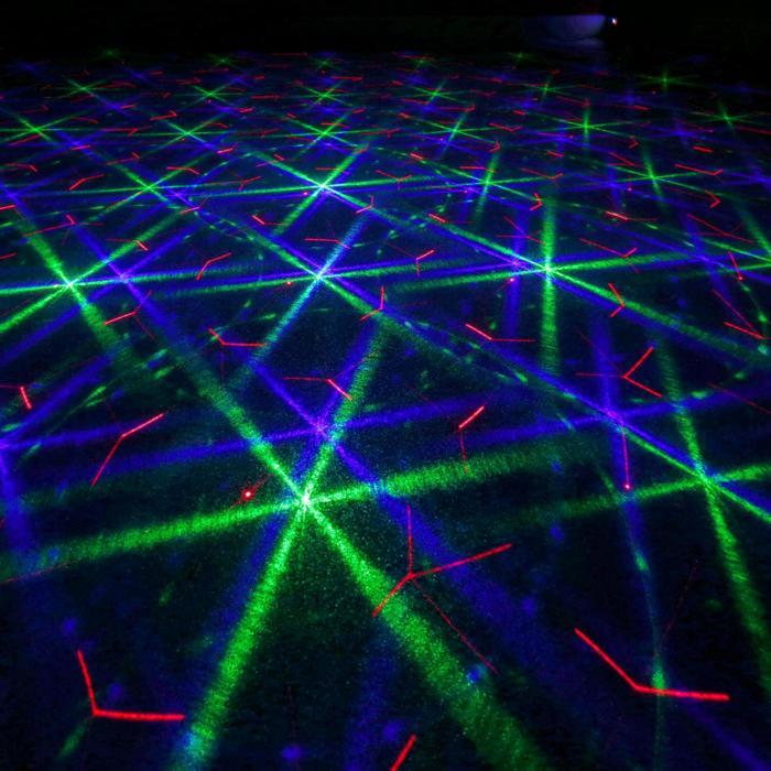 Bianca Laser Doppio Raggio 330W RGB 12 Gobos 7 DMX Master/Slave