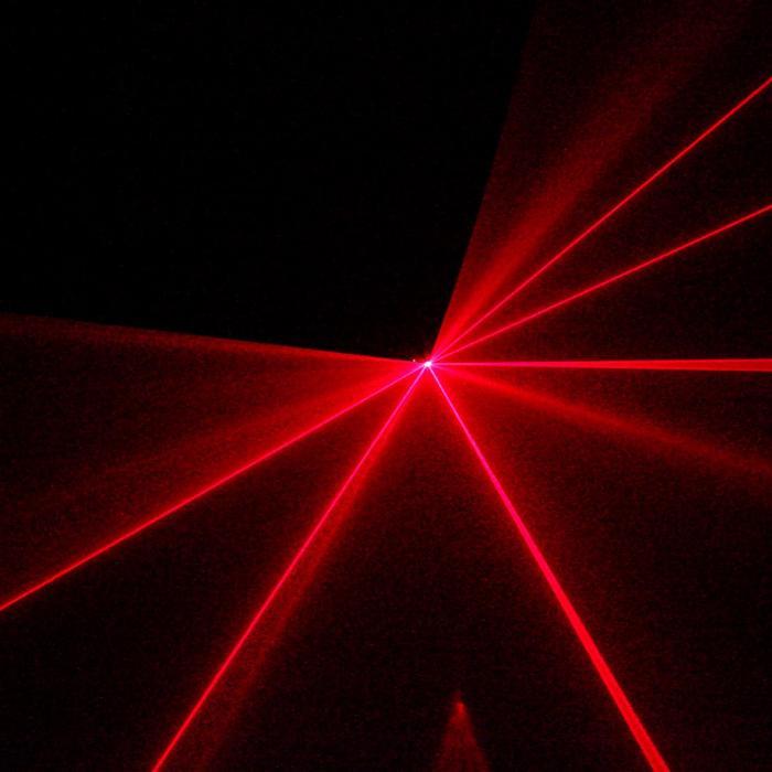 Thebe Laser 150mW Rosso 9 DMX Master/Slave Modalità Automatica Telecomando IR
