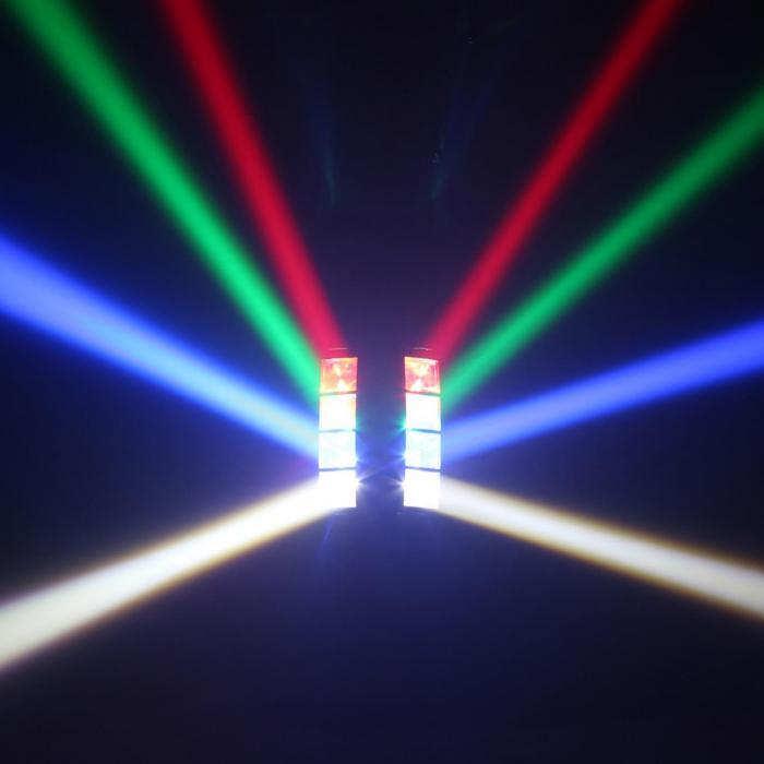 MHL820 kaksoisheliksi 8 x 3 W RGBW-LED-valot DMX infrapunakaukosäädin
