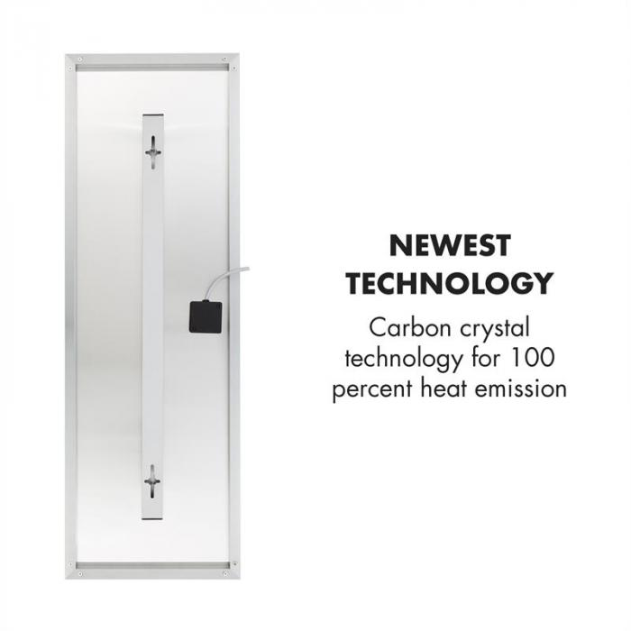 Wonderwall IR 30 Carbon Crystal Pannello Riscaldante 34x100cm 300W bianco