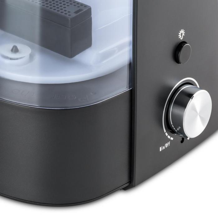 Toledo Umidificatore Ultrasuoni Diffusore Aroma 6l Luce A LED Nero