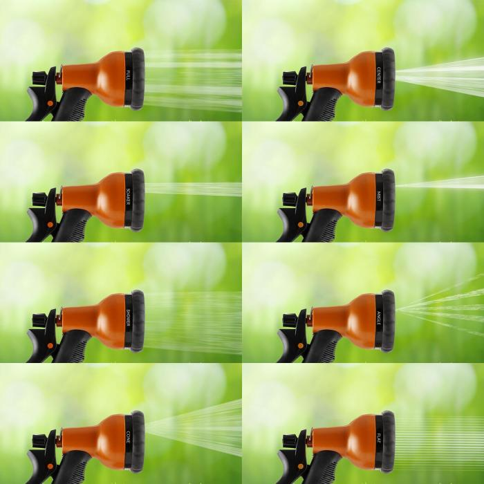 Water Wizard 15 flexibele tuinslang 8 functies 15 m oranje