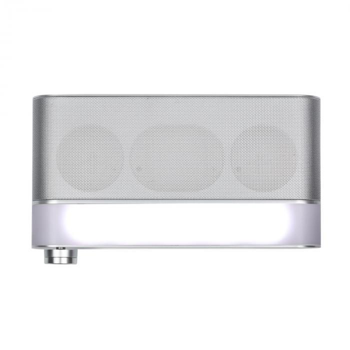KR-130 Bluetooth Kitchen Radio Hands-free Function FM tuner LED light silver