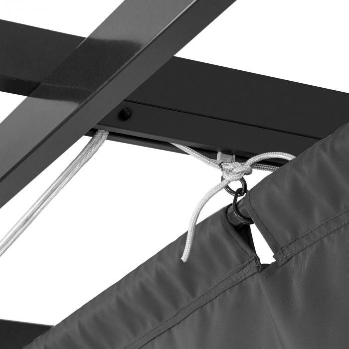 Pantheon 3x4 Pergola Tettoia 3x4m Alluminio Tenda da Sole Poliestere grigio