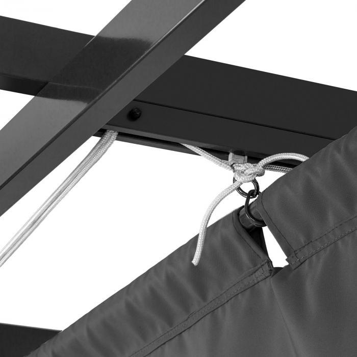 Pantheon 3x6 Pergola Tettoia 3x6m Alluminio Tenda da Sole Poliestere grigio