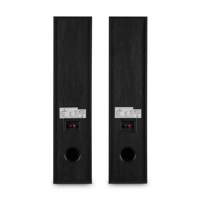 l766 3 wege bassreflex hifi boxen paar schwarz online. Black Bedroom Furniture Sets. Home Design Ideas