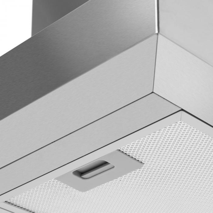Zelda 90cm Campana de extracción Set de circulación de aire 620 m³/h Filtro de carbón activado