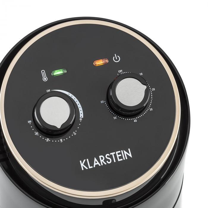 Klarstein Well Air FryFriggitrice ad Aria Calda 1230 W Protezione da Surriscaldamento 1,5 L Nero