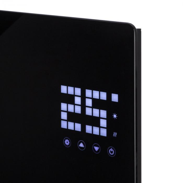 Bornholm Single Riscaldatore a Convezione Termostato Timer 1000W nero