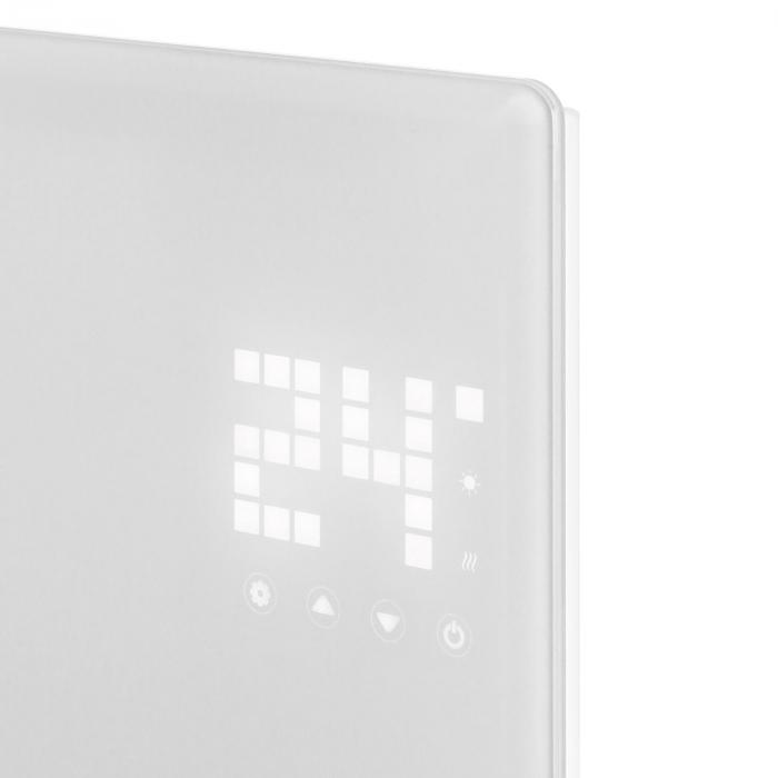 Bornholm Single Konvektions-värme-enhet Termostat Timer 1000W vit