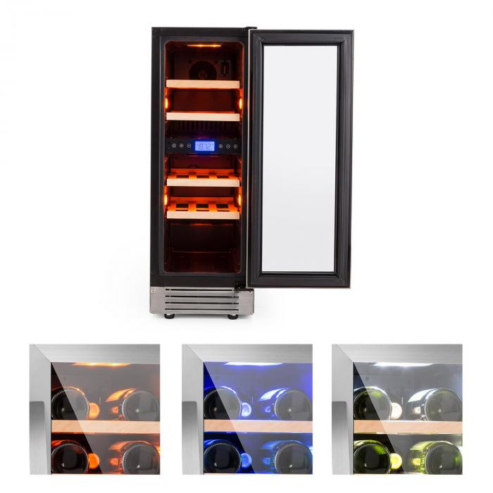 Vinovilla Duo17 Two-zone Wine Refrigerator 53l 17 Bolttles 3-colour Glass Door