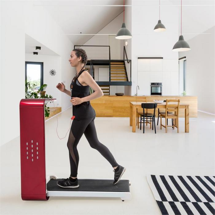 Home Runtasy Tapis Roulant Hometrainer Display LED Bluetooth Pieghevole Rosso
