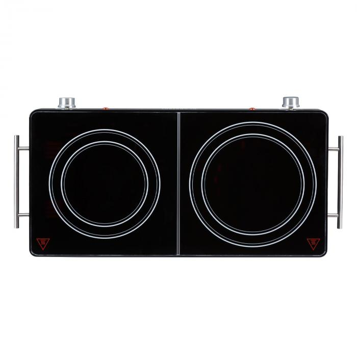 VariCook Duo HotplateHob 3000W Stainless Steel Case Handles Black