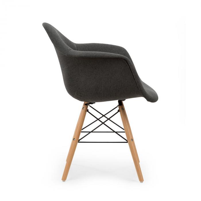 visconti schalenstuhl 2 er set gepolsterte pp schale grau grau online kaufen elektronik star ch. Black Bedroom Furniture Sets. Home Design Ideas