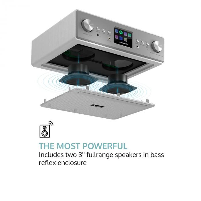 "Connect Soundchef radio de cocina con soporte para tableta DAB+ FM 2 x 3"" - altavoces banco"