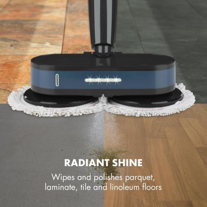 Furby lattiamoppi ja kiillotuslaite LED-valot akkukäyttöinen 60 W musta/sininen