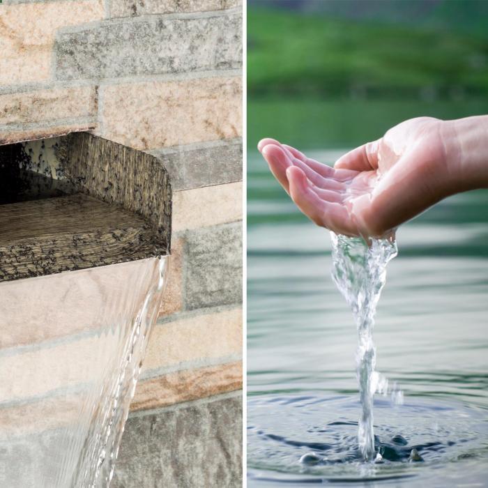 Blumfeldt Watergate Fontaine de jardin intérieur / extérieur Pompe ...