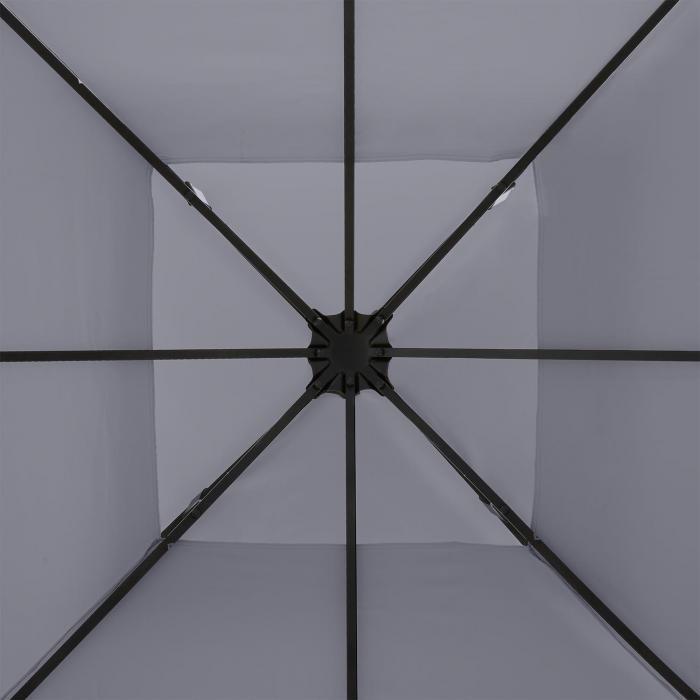 Odeon Roof Grey vaihtokatos Odeon-paviljonkiin 3 x 3 m tummanharmaa