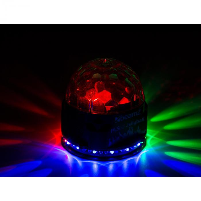 PLS10 Jellyball 3x 1W e Anello con 48 RGB-LED Cassa BT MP3-Player