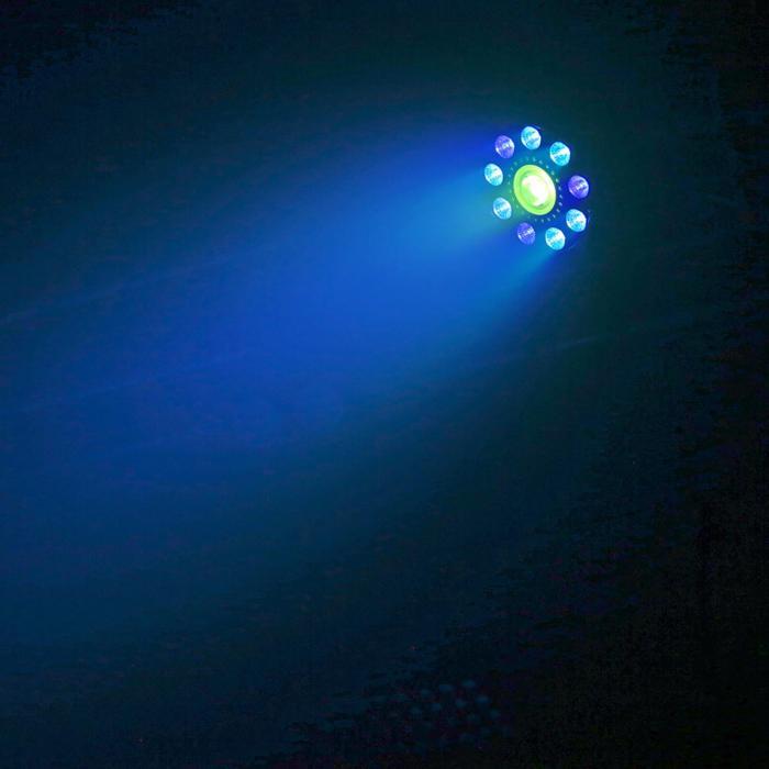 BX96 PAR 9xLED 9W 6in1 RGBW-UV 24xLED SMD Tecnologia COB Telecomando