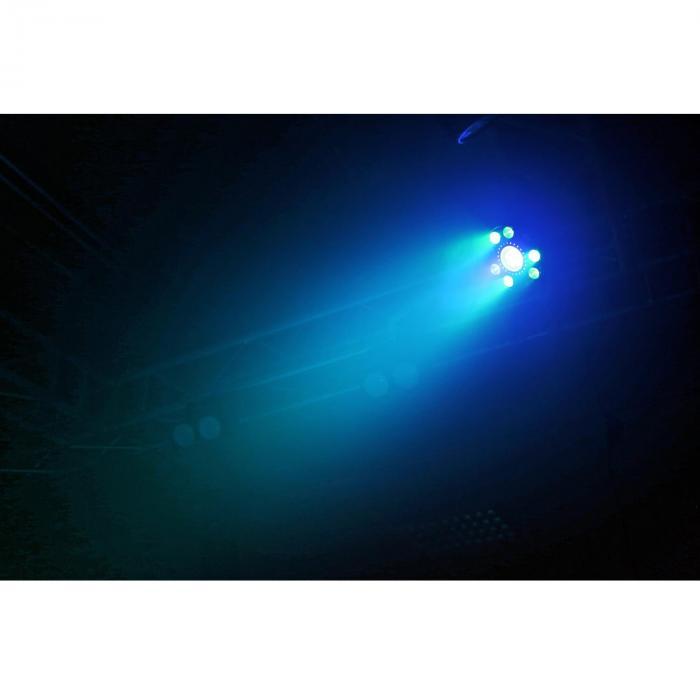 BX94 PAR 9x6W 4in1 RGBW leds stroboscoop met 24 SMD leds afstandbediening