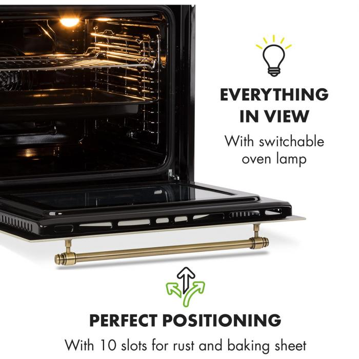 Victoria Set Built-in Oven Extractor Hood Recirculation Set Ivory