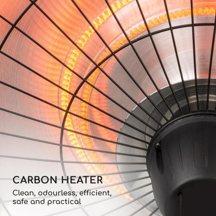 Camden Heat Terrace Heater Radiant Heater IR ComfortHeat IP24 Easy Black