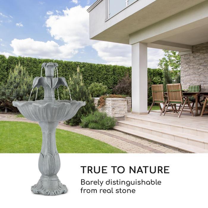 Floreal trädgårdsfontän polyresin 6W romantisk sesign sten-look