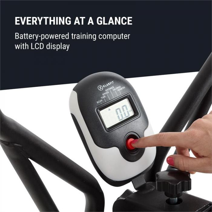 Bogera X Crosstrainer Air Walker LCD-Display Trainingscomputer schwarz