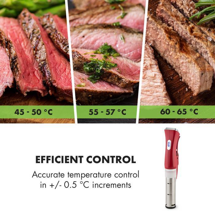 Quickstick Stick per Cottura Sottovuoto Circolazione 3D 50-95 °C rosso
