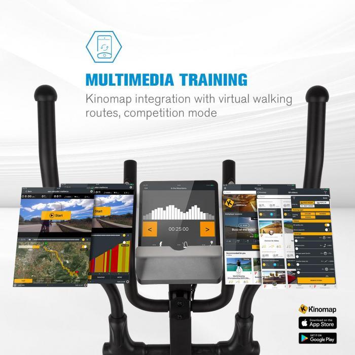 Helix Track Cross Trainer Bluetooth App 18kg Schwungmasse