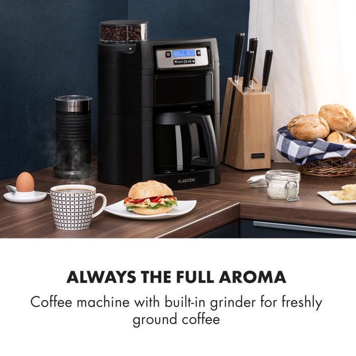 Aromatica II Thermo -kahvikone, jauhatus, 1,25 l, musta