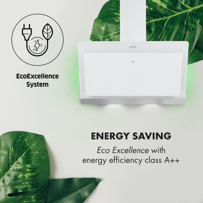 Aurora Eco 90 Campana extractora 550 m³/h Display LED Blanco