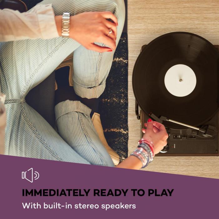 Peggy Sue Plattenspieler Stereolautsprecher USB-Anschluss braun