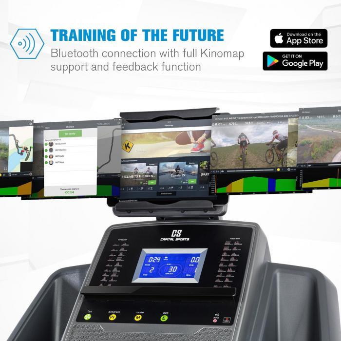 Infinity Track 2.0 Laufband 5 PS BT Kinomap-App LCD grau