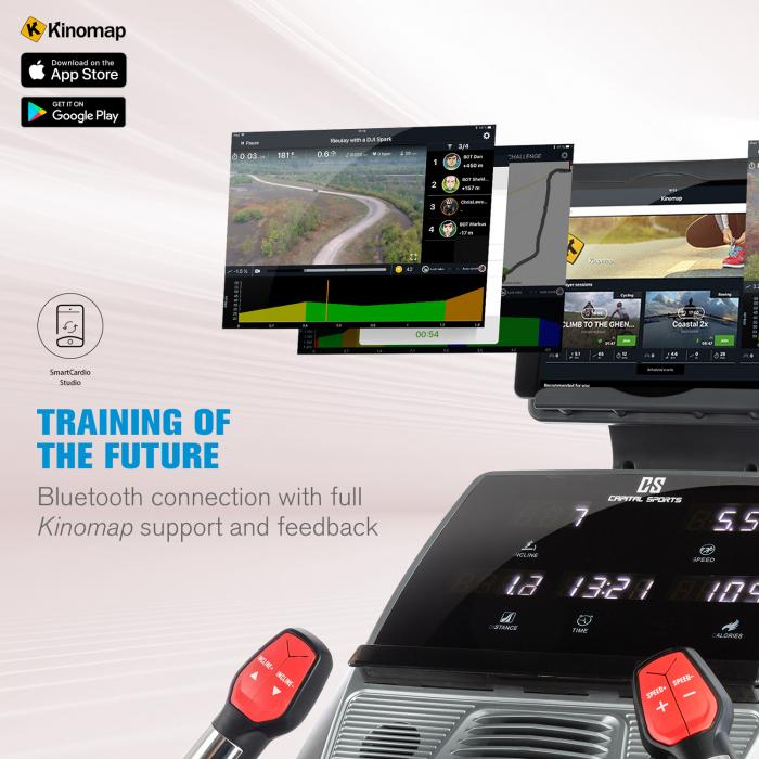 Infinity Track 4.0 juoksumatto 5,5 hv BT Kinomap-sovellus LED harmaa