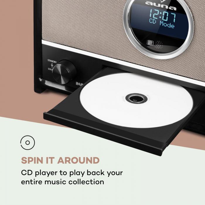 Columbia DAB Radio máx. 60 W  Sintonizador CD DAB+/ FM Bluetooth MP3 USB Negro