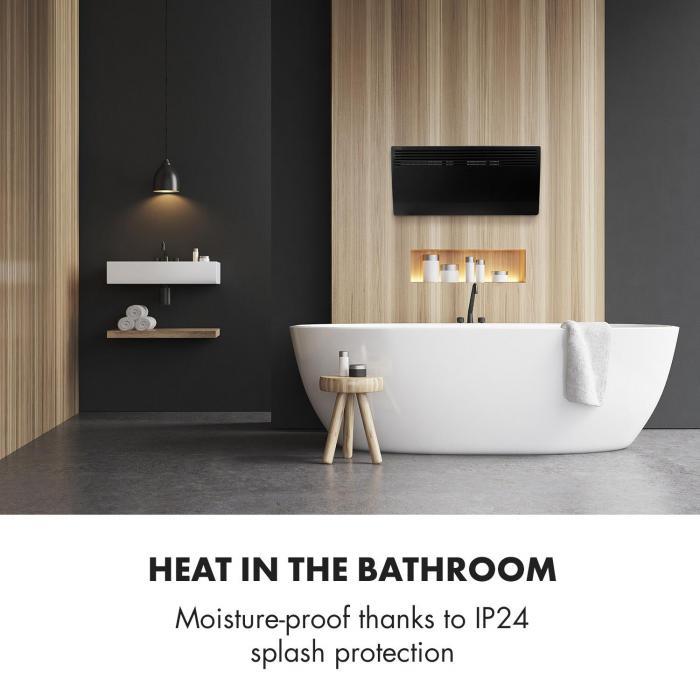 Hot Spot Slimcurve verwarming 80x40cm 40m² 2000W 5-40°C LED IP24 zwart