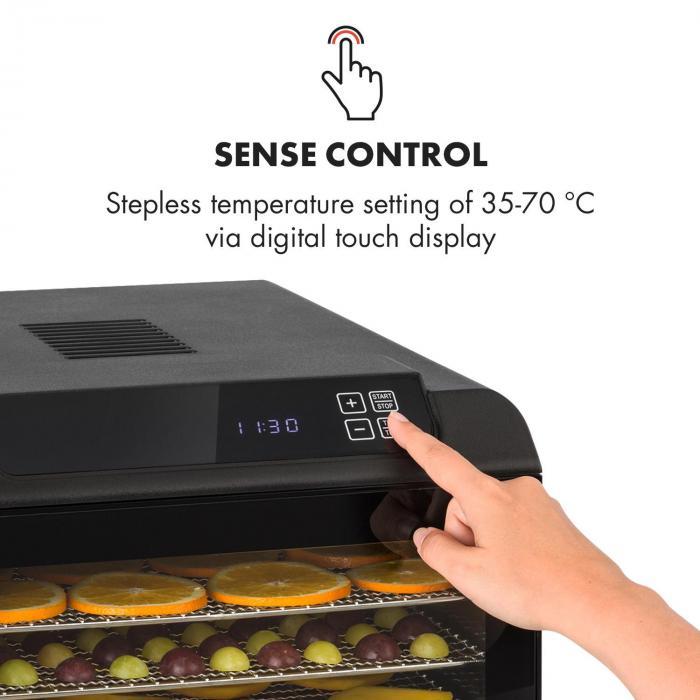 Arizona Jerky Essiccatore 500W 35-70°C Display Touch Digitale nero