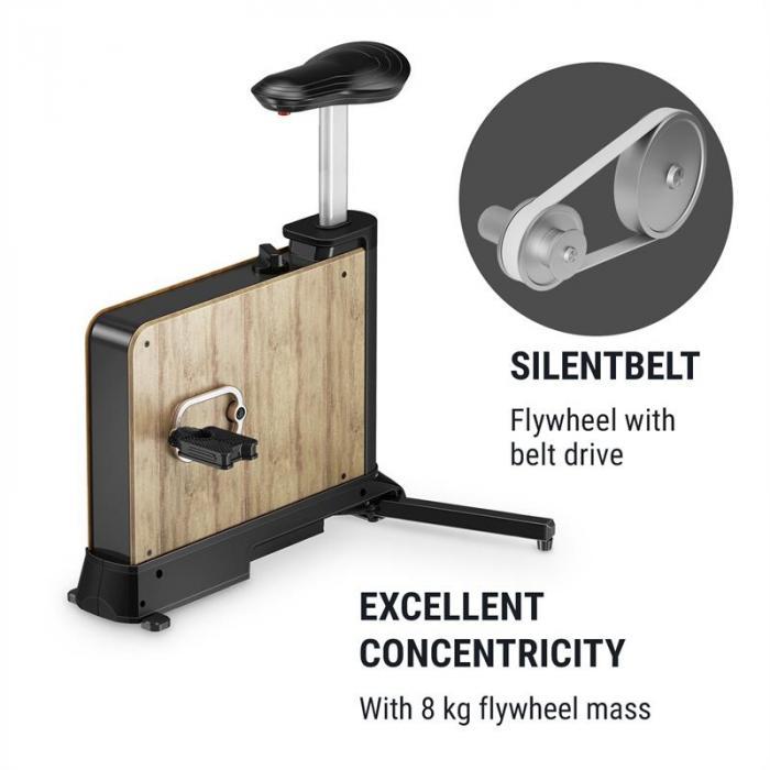 Roomik Move kuntopyörä koivua 8 kg vauhtipyörä 8 vastustasoa